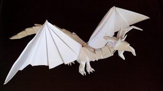 Как сделать дракона оригами, dragon origami (Tadashi Mori)