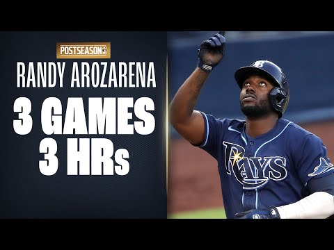 Rays' Randy Arozarena ON FIRE! 3 HRs in the first 3 ALDS games!