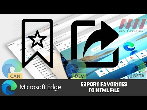 How to Export Favorites to HTML File in Chromium Version of Microsoft Edge