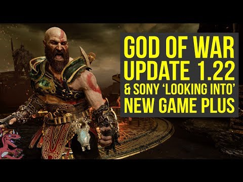 God of War Update 1.22 & Sony LOOKING INTO MAKING New Game Plus (God of War New Game Plus)