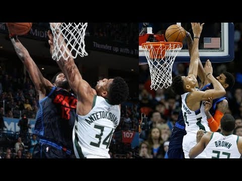 Paul George Dunks on Giannis! 36 Points 3 Steals! 2018-19 NBA Season