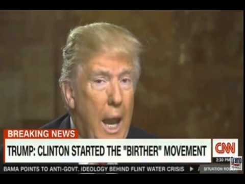 Image result for donald trump and the birther movement  you tube