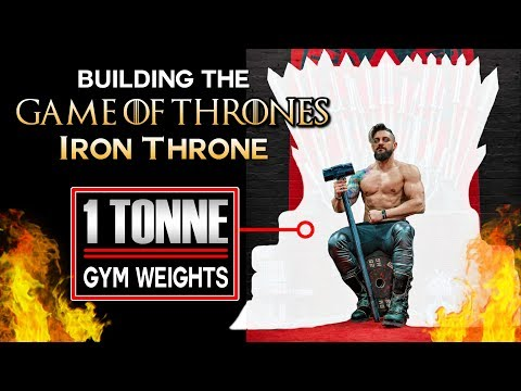 Building A LIFE SIZE IRON THRONE Using ONLY Gym Weights   Game Of Thrones Challenge Reveal! thumbnail