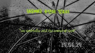 (ASMR) 우산의 빗소리