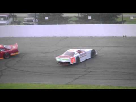 Outlaw Super Late Model Wreck - 5/26/12 - Springport Motor Speedway