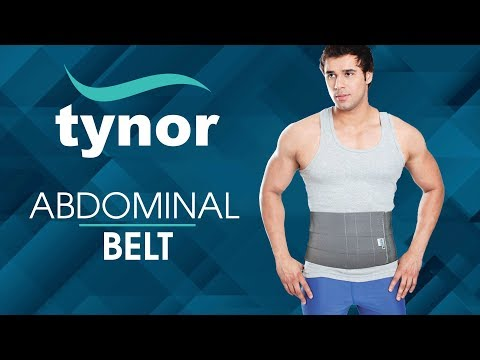 How To Wear Tynor Abdominal Belt For Support And Compression Of The Abdominal Region