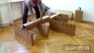 Cardboard Bed Assembly