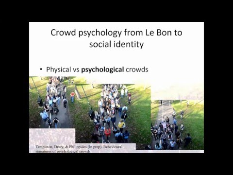 Crowd Psychology and Mass Gathering - Dr. John Drury, University of Sussex