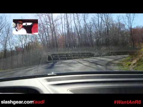 2017 Audi R8 - testing Audi magnetic ride on rough back country road