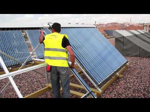 Optimum Energy's Solar Water Heating System installation in Yerevan, AUA
