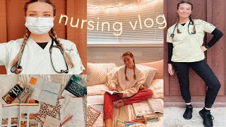 WEEK IN THE LIFE OF A NURSING STUDENT | Nursing School, Online Class & Clinical