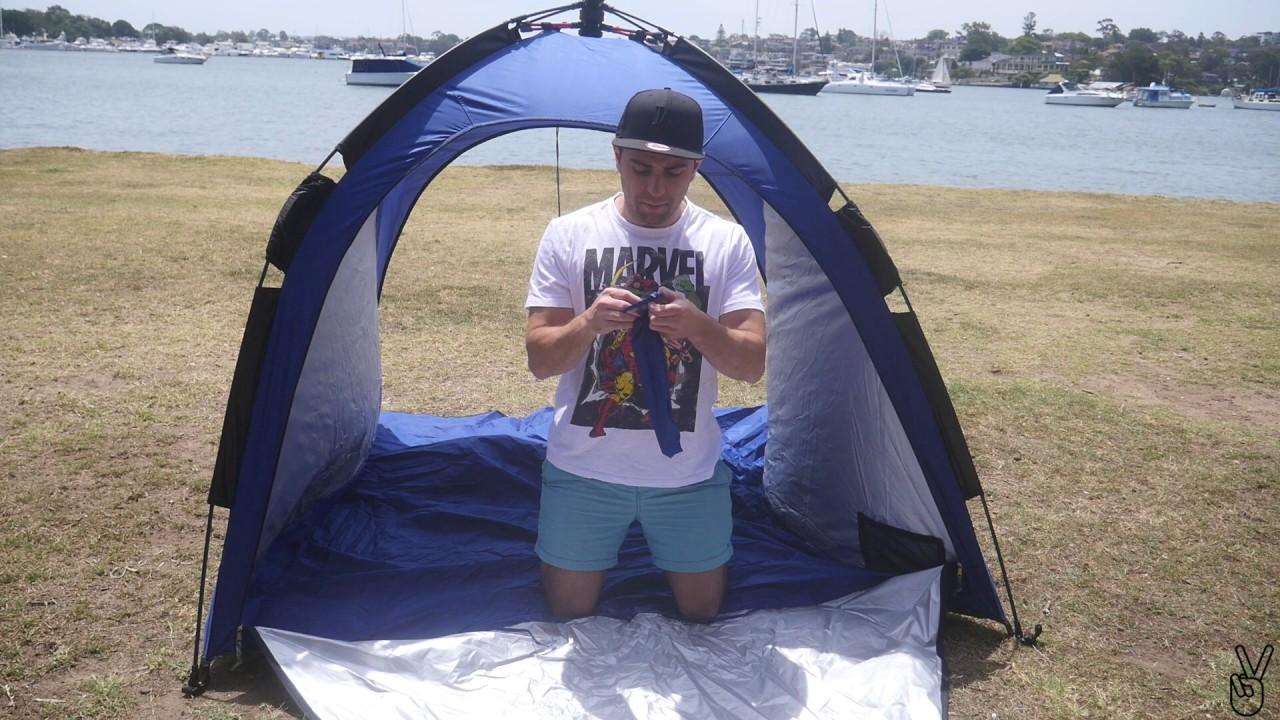 Caribee Guardian UV Beach Shelter Review & Caribee Guardian UV Beach Shelter Review - YouTube
