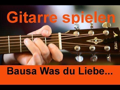 Bausa Was du Liebe nennst Gitarre spielen (Guitar Tutorial)