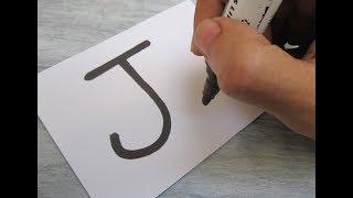 Bir Çizgi film JELLY Mektup ''J'' nasıl açabilirim ! Kağıt üzerinde çocuklar için sanat çizim öğrenmek