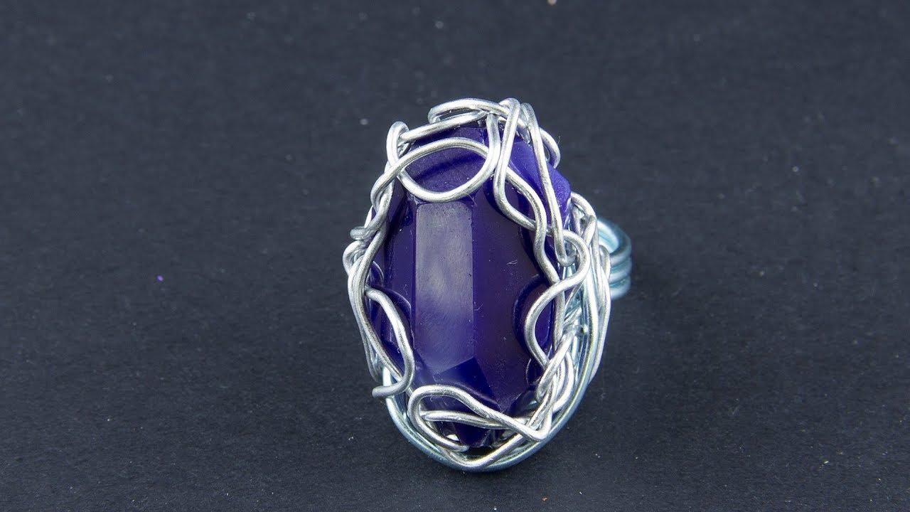 Кольцо с камнями своими руками
