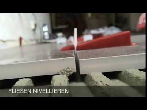 Nivelliersystem Verlegehilfe Verlegesystem fr Fliesen  YouTube