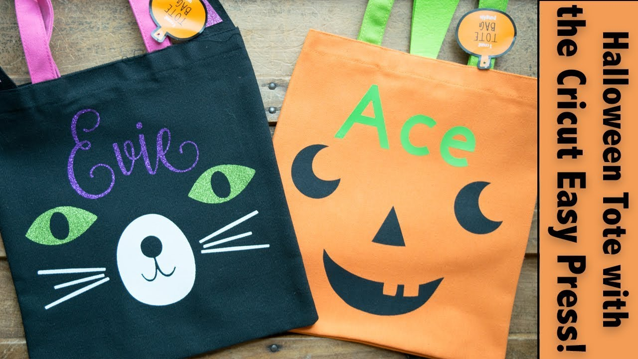 Personalized Halloween Tote Bags With The Cricut Easy