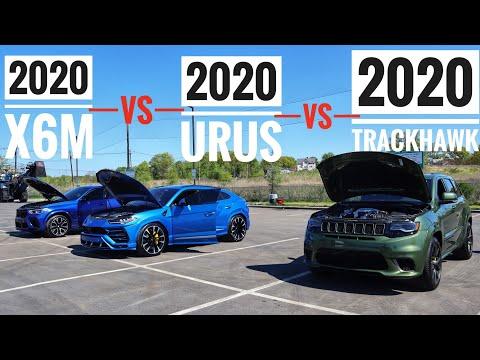 Video Bmw X6 M Vs Jeep Gc Trackhawk Lamborghini Urus