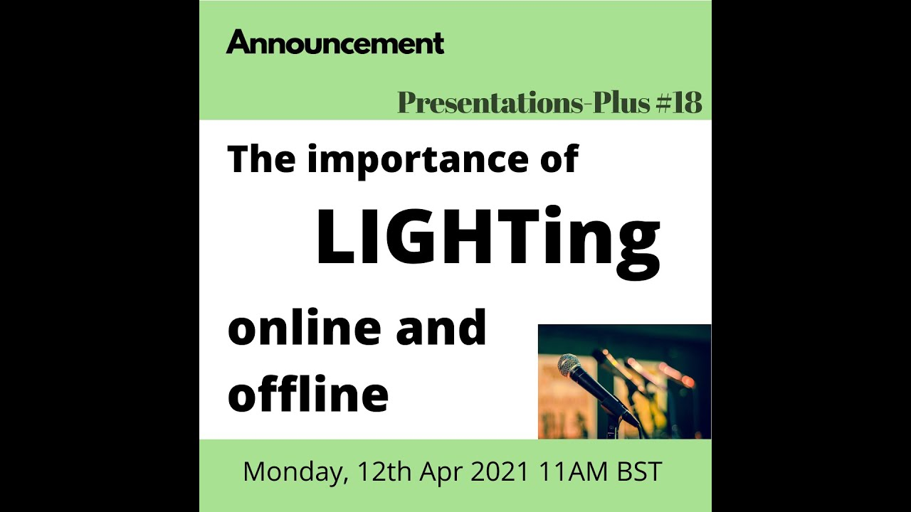The importance of LIGHTing - online and offline