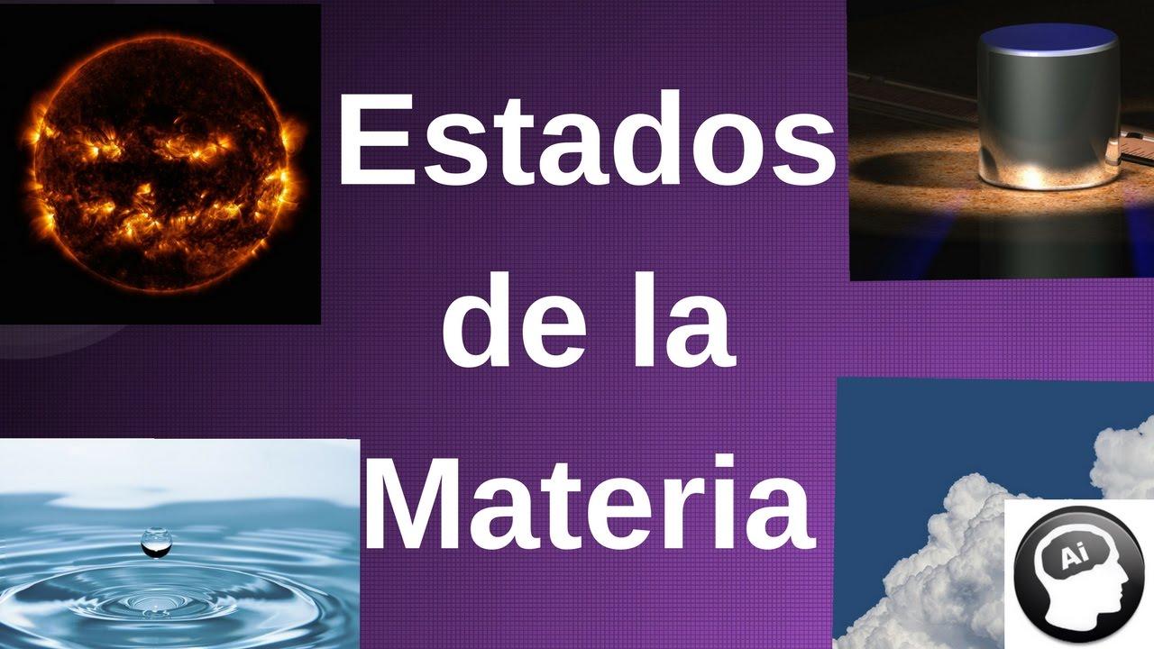 Estados de la materia: sólido, líquido, gaseoso, plasma