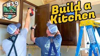 Building The Nantahala Retŗeat #39 | how to install cabinets