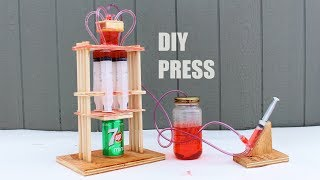 How To Build A Hydraulic Press at Home