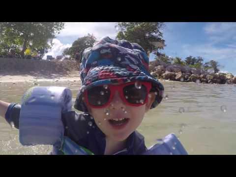 Swimming in Haiti