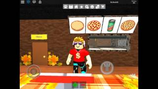 | ROBLOX Travailler dans une pizzeria THERE ARE 2 OF MEH?!