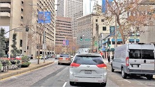 Driving Downtown - Wall Street Of The West - San Francisco California USA 4K
