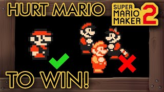 Super Mario Maker 2 - Hurt Mario to Beat This Level