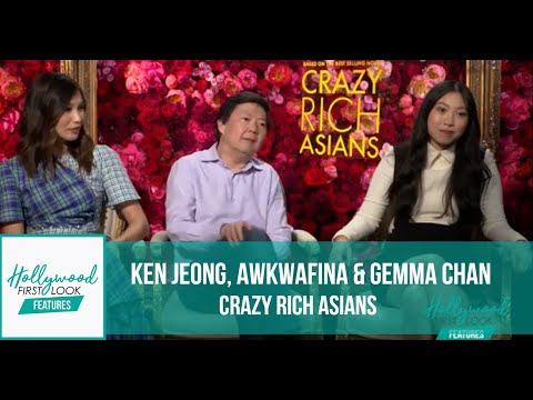 s with Ken Jeong, Awkwafina & Gemma Chan  CRAZY RICH ASIANS 2018