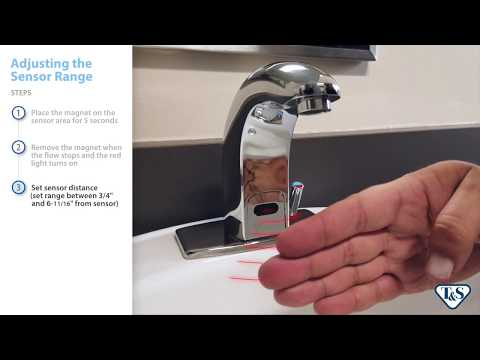 How To: Adjusting The Sensor Range On An Above-Deck Sensor Faucet