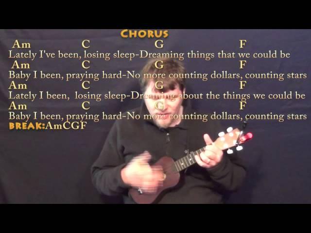 Counting Stars Ukulele Cover Lesson In Am With Chordslyrics