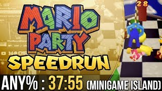 Mario Party Mini-Game Island Any% Speedrun in 37:55
