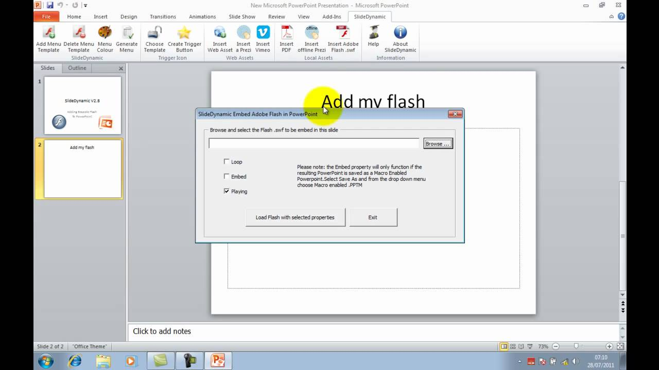 Embed flash with propertiesplay loop and embed in powerpoint in embed flash with propertiesplay loop and embed in powerpoint in 1 click alramifo Gallery