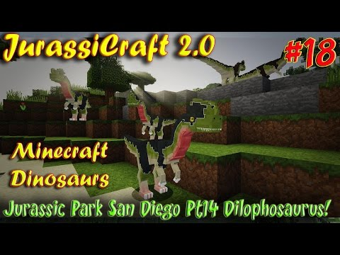 Minecraft Dinosaurs JurassiCraft 2.0 Ep18 Jurassic Park San Diego Pt13 Dilophosaurus