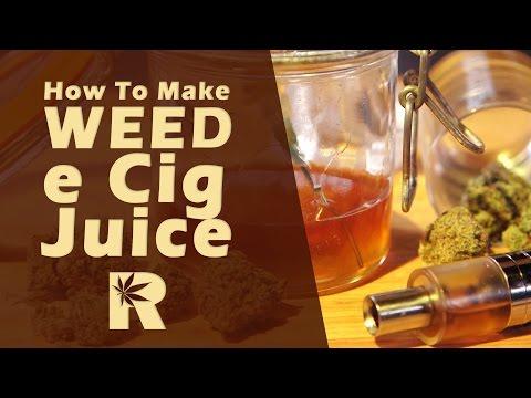 How To Make Weed e Cig Juice (VG Tincture Slow Easy Method) Cannabasics #44