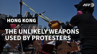 Hong Kong: the unlikely weapons used by protesters | AFP