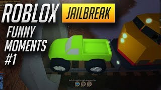 JAILBREAK Funny Montage #1 | Robbing TRAIN | FLYING WITH THE MONSTER TRUCK! (roblox)