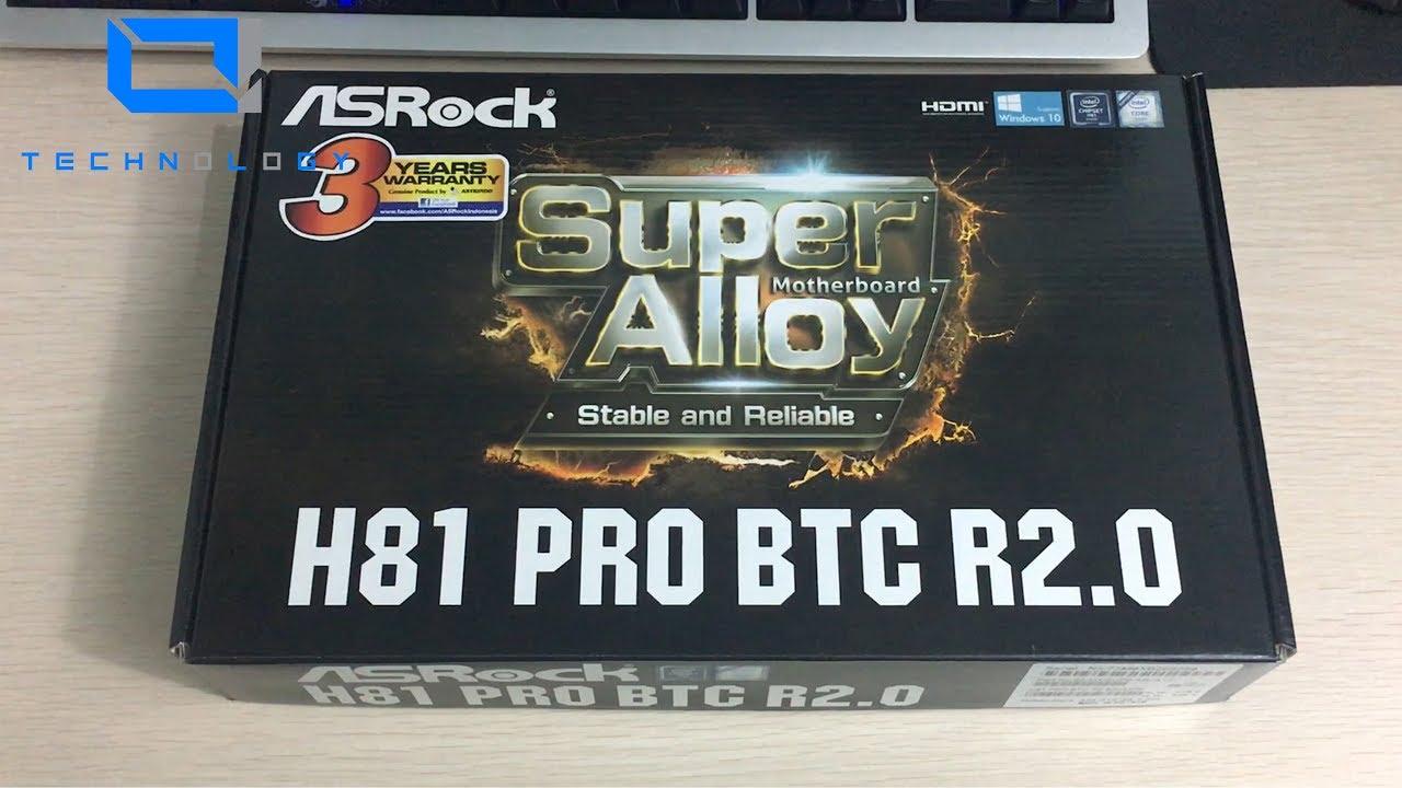 asrock h81 pro btc 6 gpu cryptocurrency mining motherboard r2.0