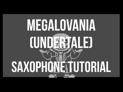 How To Play Megalovania By Toby Fox On Alto Sax (Tutorial)