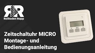 Zeitschaltuhr MICRO ~ Montage- und Bedienungsanleitung