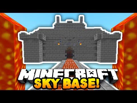 Minecraft DEFENDING THE SKY BASE! (4v50 FAN BATTLE!) W/PrestonPlayz & The Pack!