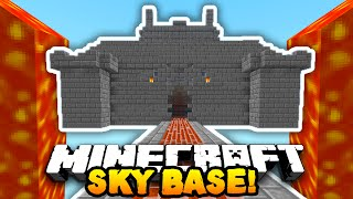 Minecraft DEFENDING THE SKY BASE! (4v50 FAN BATTLE!) w/PrestonPlayz & The Pack!