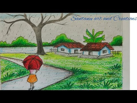 how-to-draw-rainy-season-picture-for-childrens
