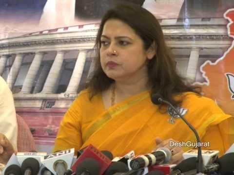 Meenakshi Lekhi addresses media in Ahmedabad Gujarat on last day of campaign