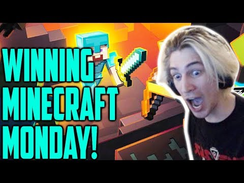 I WON $10,000 IN MINECRAFT MONDAY TOURNAMENT WITH MOXY!! EASY!