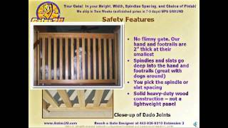 2011 Gates2u Custom Swing Gates - Baby Gates - Pet Gates