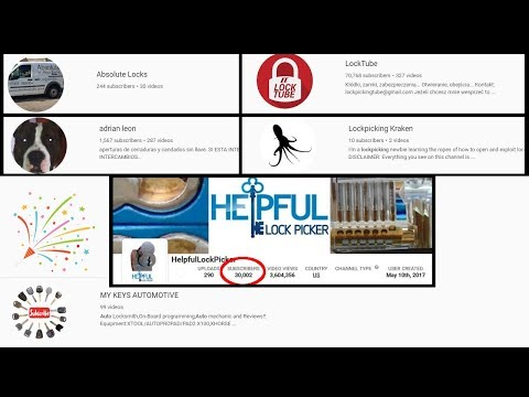 [290] Lock Sport Update   30,000 Subscribers Reached!!! & Four Channels Featured By Chance