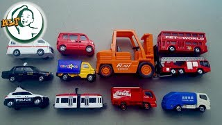 Learn different street vehicle name for kids with Tomy Tomica toy cars